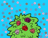Coloring page Dog-rose painted bySant