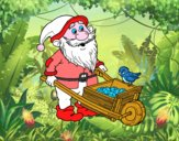 Dwarf with wheelbarrow