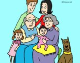 Coloring page Family  painted bylorna