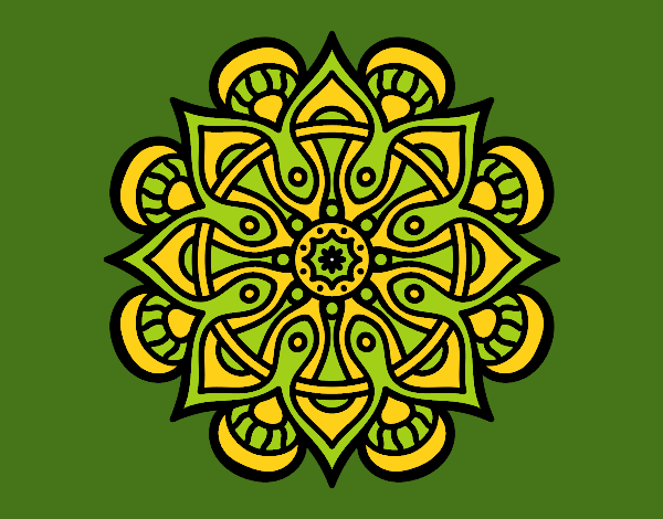 Coloring page Mandala arab world painted byrobo