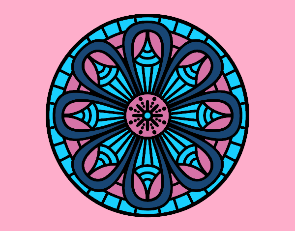 Coloring page Mandala pencils painted byrobo