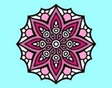 Natural Flower Mandala Coloring Page
