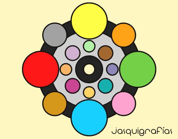 Mandala with round