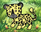 Coloring page Young Cheetah painted bylorna