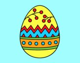 Coloring page An easter egg painted bylorna