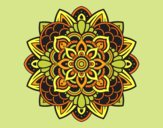 Coloring page Decorative mandala painted bylorna