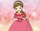 Coloring page Elegant Princess painted bylorna