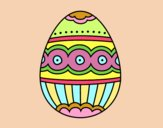 Coloring page Fabergé egg painted bylorna