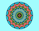 Coloring page Growing mandala painted bylorna