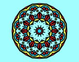 Coloring page Modernist mandala painted bylorna
