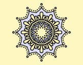 Coloring page Snow flower mandala painted bylorna