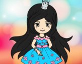 Coloring page Spring princess painted bylorna
