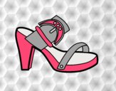 Coloring page Summer heel painted bylorna