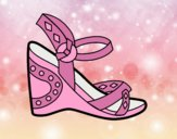 Coloring page Wedge sandal painted bylorna