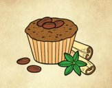 Coloring page Coffe cupcake painted bylorna