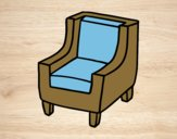 Coloring page Comfortable armchair painted bylorna
