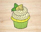 Coloring page Lemon cupcake painted bylorna