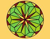 Coloring page Mandala 41 painted bylorna