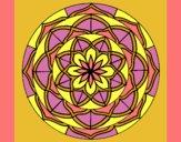 Coloring page Mandala 6 painted bylorna