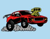 Coloring page Sport muscle car painted bylorna