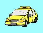 Coloring page A cab painted bylorna