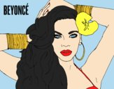 Coloring page Beyoncé painted bylorna
