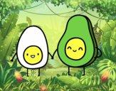 Egg and avocado