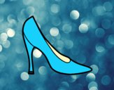 Coloring page High heel shoe painted bylorna