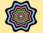 Coloring page Mandala 46 painted bylorna