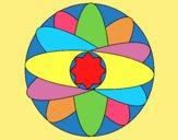Coloring page Mandala painted bylorna