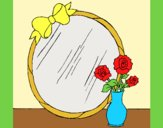 Coloring page Mirror painted bylorna