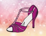 Coloring page Party shoe painted bylorna