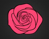 Coloring page Rose flower painted bylorna