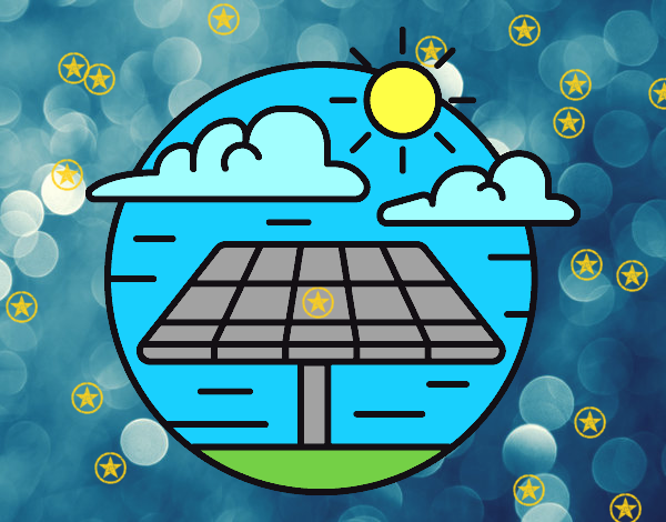 Coloring page Solar Energy painted bySant