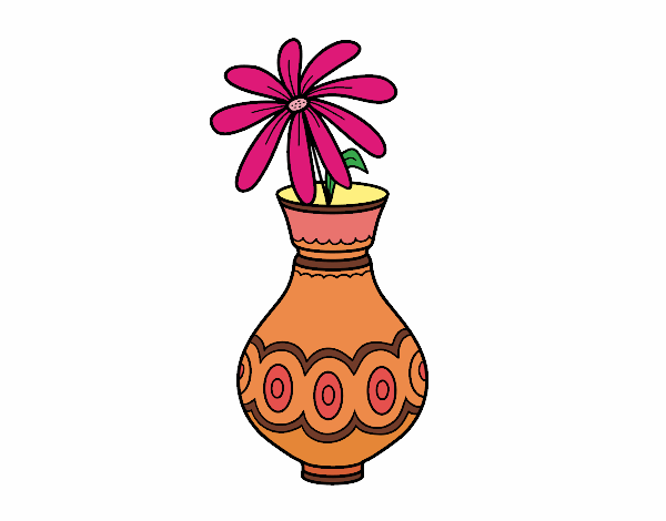 A flower in a vase