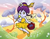 Coloring page A magic fairy painted bybbbb