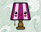 Coloring page A table lamp painted bySant