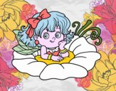 Coloring page Fairy on a flower painted bybbbb