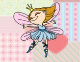 Coloring page Fairy with wings painted bybbbb