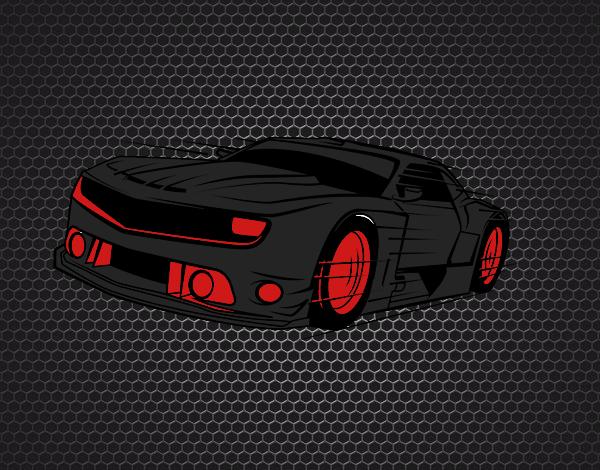 Fast sports car