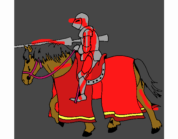 Fighting horseman