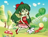 Coloring page  Flower Fairy painted bybbbb