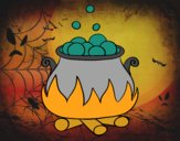 Coloring page Haunted potion painted bySant