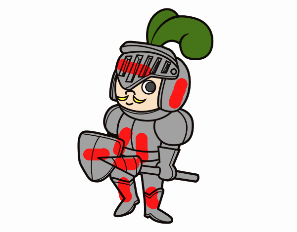 Knight with a mustache