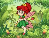Coloring page Magical forest fairy forest painted bybbbb