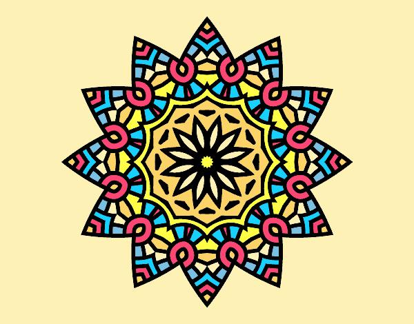 Mandala flowery star