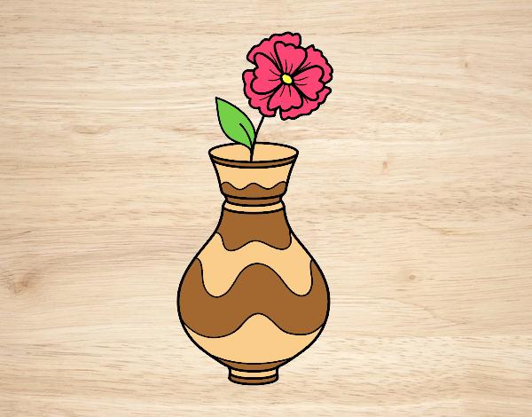 Poppy with vase
