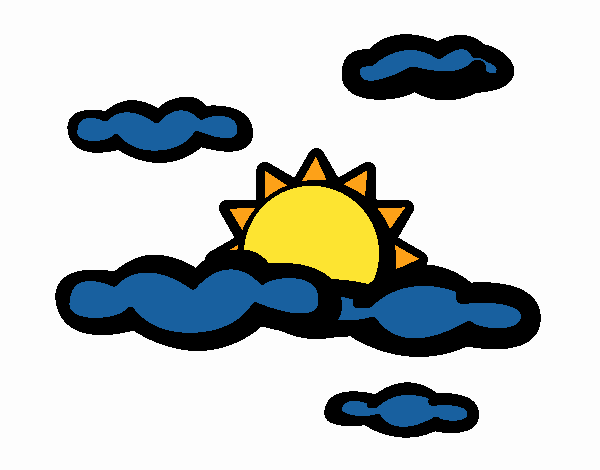 Coloring page Cloudy painted byNerak