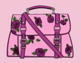 Coloring page Flowered handbag painted bylorna
