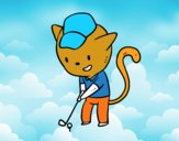 Golf cat